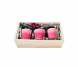 Pack 3 velas & portavelas