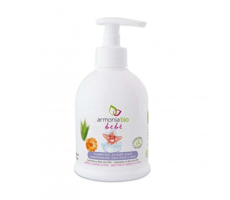 Champu-gel suave bebé bio - Caléndula Aloe Vera - Armonia Bio