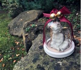 Cúpula Cristal Navidad Ángel