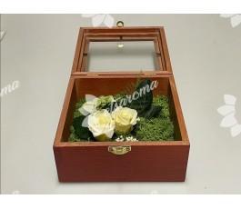 Caja madera rosas eternas