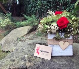 Centro hortensias y rosas...