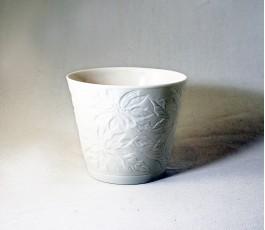 Portavelas porcelana con...
